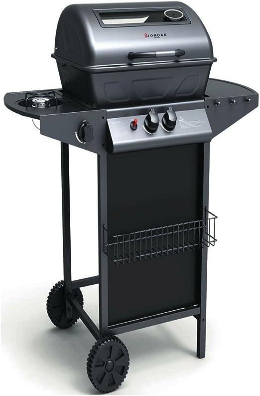 Barbacoa a gas black Grill con tapa y termostato: Amazon.es ...