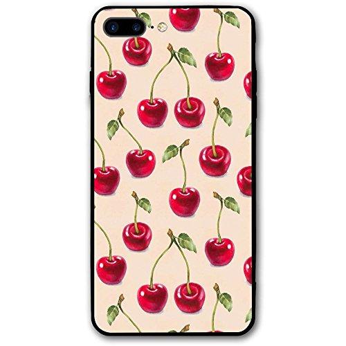 IPhone8 Plus Phone Case Cherry Pattern (5.5 Inch) 3D Print Anti-Scratch Anti-Finger Slim Hard Cover - Creek Cherry Mall
