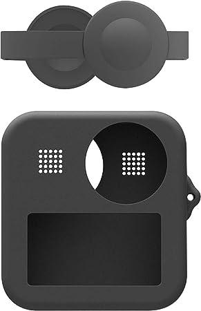 Jj Prime Silikonhülle Kompatibel Mit Gopro Max Action Kameras Weiche Silikon Hülle Für Go Pro Max Premium Qualität Und Langlebig Einfach Zu Bedienen Anti Kratz Hülle Full Port Access
