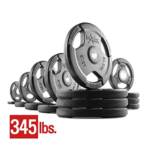 XMark Fitness XM-3377-BAL-345 Rubber Coated Olympic Plates by XMark Fitness