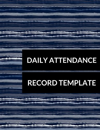 daily attendance record template journals for all 9781520569178
