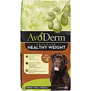 Avoderm Natural Advanced Healthy Weight, Grain Free Weight Management And Joint Support Dry Dog Food , Turkey Meal Formula, 4 Pound Bag