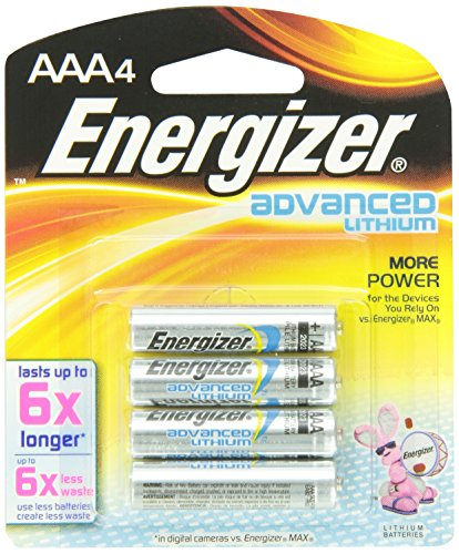 Advanced Lithium Aaa Batteries - Energizer Advanced Lithium AAA Battery 4 Units