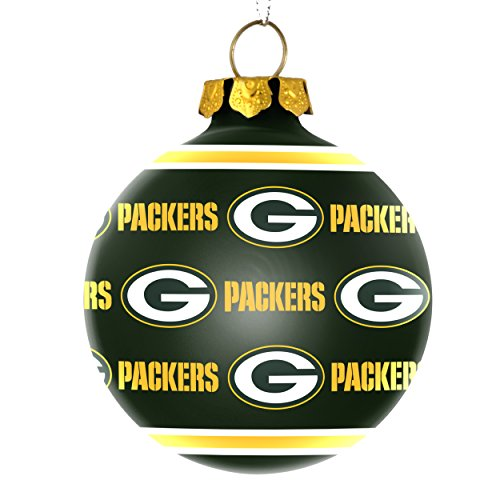 NFL Green Bay Packers Glass Ball Ornament