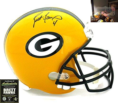 Brett Favre Autographed/Signed Green Bay Packers Riddell Full Size NFL
