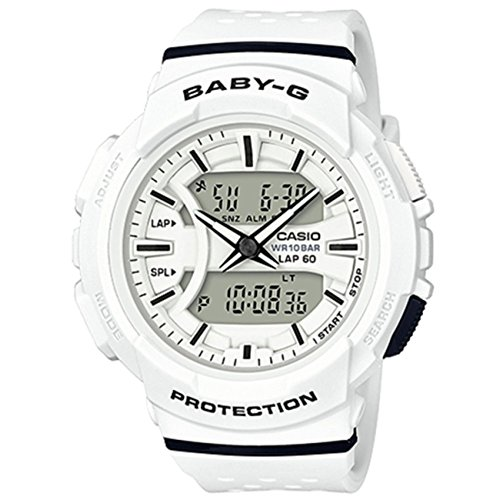 outlet store 1da36 fcd59 Casio Baby-G Ladies White Analogue/Digital Running Watch BGA ...
