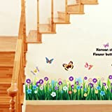 Butterfly Grass Flower DIY Removable Art Vinyl Quote Wall Sticker Decal Mural Home Room D¨¦cor
