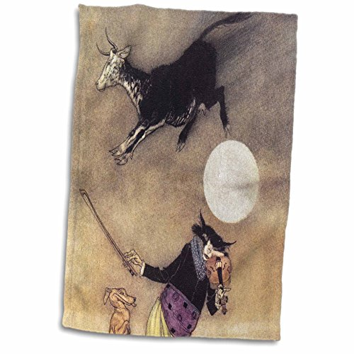 3D Rose The Cow Jumped Over The Moon Vintage Towel 15