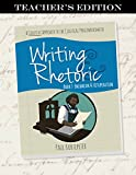 Writing & Rhetoric Book 7: Encomium & Vituperation, Teacher