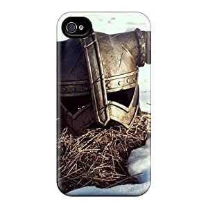 Hot Skyrim Helmet First Grade Phone Cases For Iphone 4/4s Cases Covers