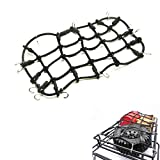 RC-FAST 1/10 RC Elastic Luggage Net 18x9cm with Hook for 1:10th RC Vehicles RC Crawler Truck Car Roof Rack