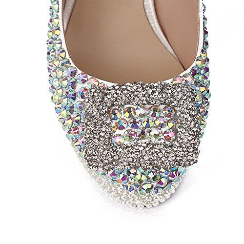 Schuhe Schnalle Schuhe Silber Damen Plateau Lacitena vBawqX