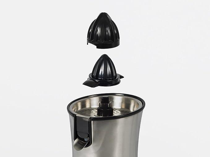 Electrolux EJP5000 Exprimidor ErgoPress con Dos Conos Intercambiables, 85 W, 0.8 litros, Acero Inoxidable, Gris: Amazon.es: Hogar