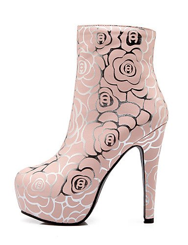 Stiletto uk8 rosa Pink uk8 eu42 Redonda Pink De us10 Vestido Xzz 5 Tacón Moda us10 Punta casual Botas 5 La zapatos blanco A botas Cn39 eu42 Uk6 Eu39 5 cn43 Pink Azul Semicuero us8 5 Oklop Mujer cn43 FqXWxTAW