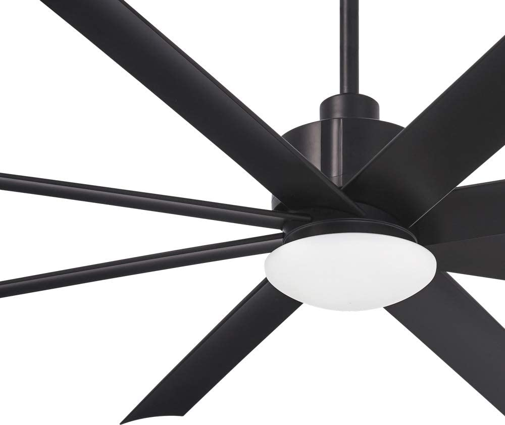 "Minka Aire F888L-CL Slipstream 65"" Outdoor Ceiling Fan with LED Light and Remote, Black"