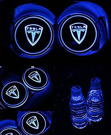 Accessories Bearfire Car Logo LED Cup Pad cup holder light USB Charging Mat Luminescent Cup Pad LED Mat Interior Atmosphere Lamp Decoration Light Fit Jeep New