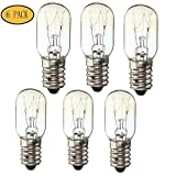 #6: 6 Pack Screw-in Light Bulb 15W for Baby Lock, Brother, Elna, Necchi, Pfaff E14 BA15D by LNKA