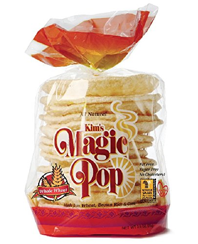 Rice Cakes Whole Grain (Kim's Magic Pop Whole Wheat Flavor 6-Pack: Freshly Popped Rice Cakes, Healthy Grain Snack, 0 Weight Watchers Point)