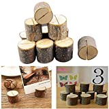 Faylapa 10pcs Wooden Wedding Name Place Table Number Card Holders Home Decor