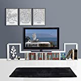 """3-in-1 Versatile TV Stand Bookcase Display Cabinet by DEVAISE (New Style-White ( 0.6"""" thickness))"""