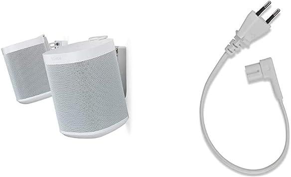 Flexson Wandhalterung Geeignet Für Sonos One One Sl Und Play 1 Paar Weiß 35 Cm Netzkabel Geeignet Für Sonos One One Sl Und Play 1 Heimkino Tv Video