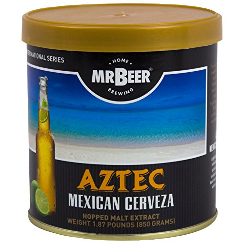 Indian Pale Ale - Mr. Beer Aztec Mexican Cerveza 2 Gallon Craft Beer Refill Kit, Contains Hopped Malt Extract Designed for Consistent, Simple and Efficient Homebrewing, Multicolor