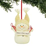 Department 56 Snowpinions I Love You This Much Hanging Ornament