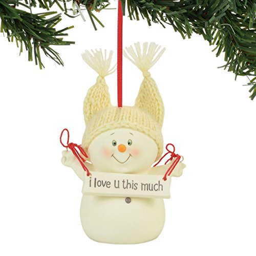 Love Ornament (Department 56 Snowpinions I Love You This Much Hanging Ornament)