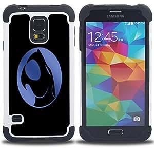 For Samsung Galaxy S5 I9600 G9009 G9008V - Crest Dual Layer caso de Shell HUELGA Impacto pata de cabra con im??genes gr??ficas Steam - Funny Shop -
