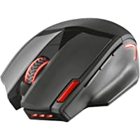 Trust GXT 4130 Pitt Mouse Gaming Wireless con 9 Pulsanti Programmabili e Pulsante di Doppio Fuoco, Nero