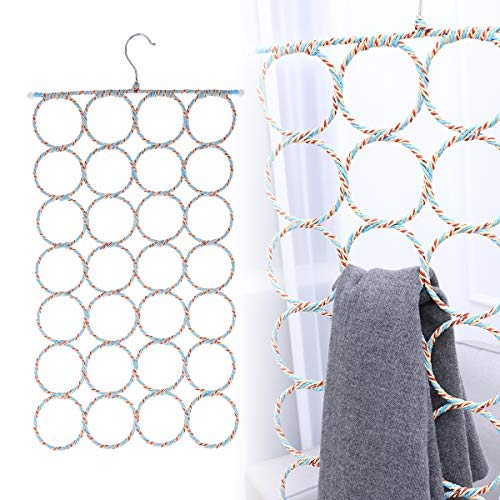 - WINOMO 2 Pcs Scarf Hanger Organizer Holder, Multifunctional 28 Count Loops Scarf Racks, Tie Racks Closet Organizer and Storage (Mixed Color)