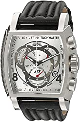 Invicta Men's 20237 S1 Rally Stainless Steel Watch With Black Leather Band