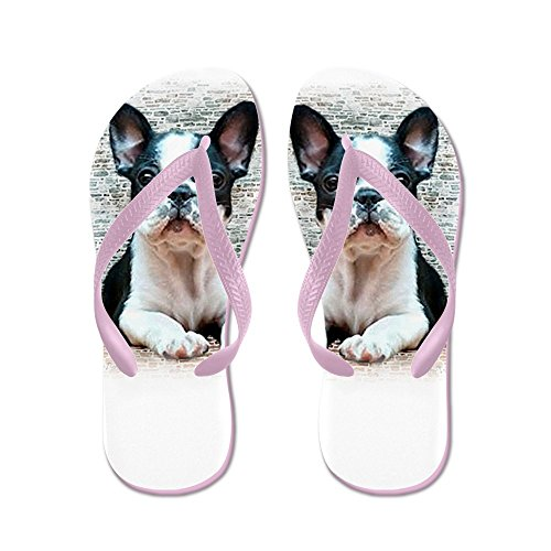 CafePress French Bulldog - Flip Flops, Funny Thong Sandals, Beach Sandals Pink