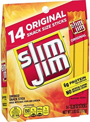 Jerky & Dried Meats: Slim Jim Snack Sticks