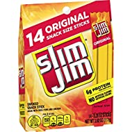 Slim Jim Snack-Sized Smoked Meat Stick, Original Flavor, .28 Ounce, 14 Count (Pack of 1)