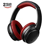 Active Noise Cancelling Bluetooth Headphones - Hifi Stereo Over Ear Wireless Headset with Microphone, Comfortable Protein Earpads, Foldable Design, 25H Playtime for PC/Cell Phones/TV, Travel and Work