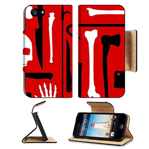 MSD Premium Apple iPhone 5 iPhone 5S Flip Pu Leather Wallet Case iPhone5 IMAGE ID: 5193770 Murder seamless (Crowbar Prop)