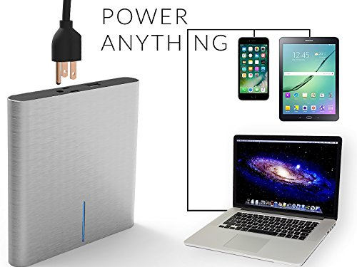 LIFEPOWR A2 L - 27,000 mAh Portable Outlet with USB & AC Plug Outlet- Universal Battery Pack- AC 120V /50 Hz/max 120W peak for iphone, macbook, CPAP Machines, PC, tablet, laptop, camera,,... by LifePower (Image #2)