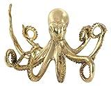 Benzara Polystone Gold Octopus Statue Animal