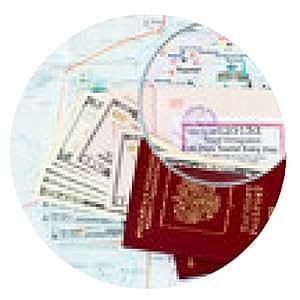 alfombrilla de ratón pasaportes rusos y Katmandú mapa de la ciudad: Thamel - ronda - 20cm