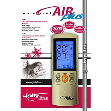 AIR PLUS Mando a distancia universal para aire acondicionado. 2000 codigos: Amazon.es: Hogar