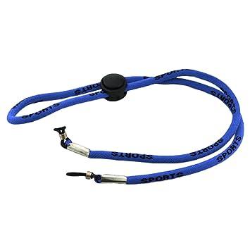 Moda Gafas de Sol Ajustables Cordones Cuello Cuerda Correa Gafas Cadena Correa Larga Cuerda Soporte de cordón Accesorios 60 cm Negro