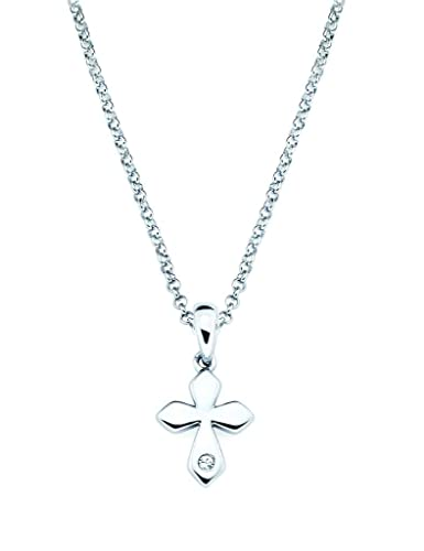 f71b9cd0bd3f8e Image Unavailable. Image not available for. Color: Little Diva Diamonds  Cross Diamond Accent Pendant Necklace in 925 Sterling Silver ...