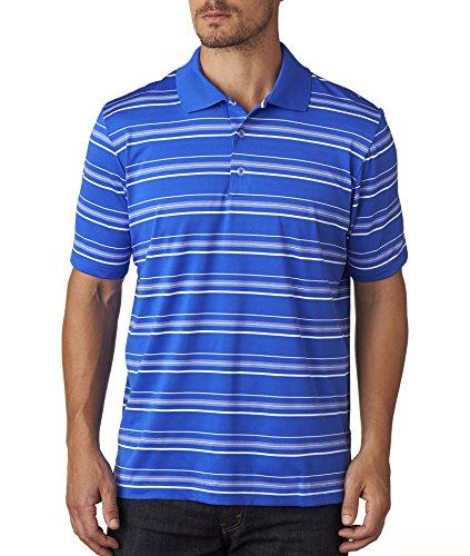 Adidas Golf Mens puremotion Textured Stripe Polo A123 -VIVID BLUE/W M