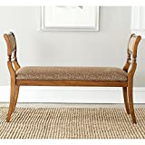 Safavieh American Home Collection Lourdes Walnut Finished European Style Settee Bench