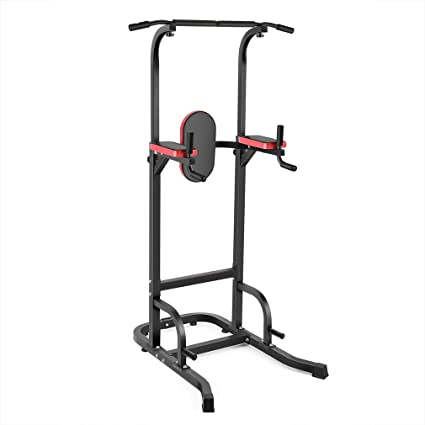 Civigrape Power Tower, Pull Up Bar Tower Dip Stands With Capacity 550 Lbs  For Gym