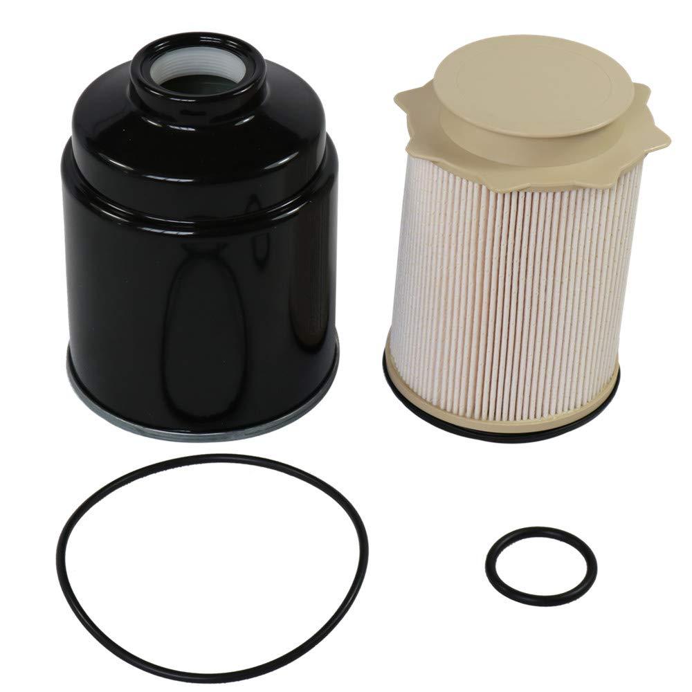 For Dodge 67l Cummins Fuel Filter Water Separator Set 2013 2017 On A Ram Diesel Location 2500