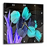 3dRose dpp_76997_3 Iridescent Blue Tulips-Wall Clock, 15 by 15-Inch Review