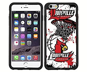 University of Louisville Cardinals Red, Black, and White Basketball Sports RUBBER Snap on Phone Case (iPhone 6) by lolosakes