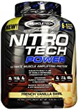MuscleTech Nitro Tech Power Powder, Superior Whey Protein Peptide Muscle Growth Formula, Vanilla, 4 lbs (1.81kg) by MuscleTech Review